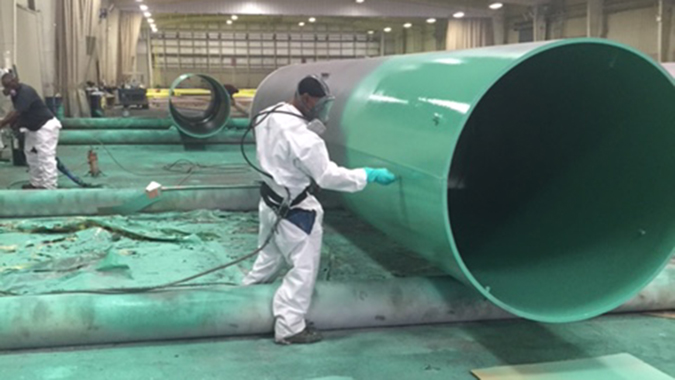 Specialty Coatings Preps Pipe for Southern Company